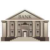 Bank finance building illustration isolated Royalty Free Stock Images