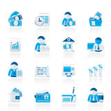 Bank and Finance Icons Stock Photography