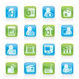 Bank and Finance Icons Royalty Free Stock Image