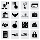 Bank & finance icons(signs) related to money, wealth. Vector graphic. This illustration can also represent savings account,investments,wealth creation,banking Stock Photo