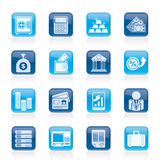 Bank and Finance Icons Stock Images