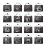 Bank and Finance Icons. Vector Icon Set Royalty Free Stock Image