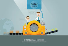 Bank financial advisor and manufacturer  Stock Image