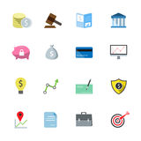 Bank flat icons color. Vector illustration Royalty Free Stock Image