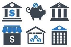 Bank Flat Vector Icons Royalty Free Stock Image