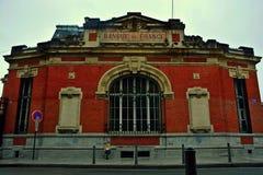 Bank in Frankrijk Royalty-vrije Stock Foto's