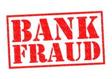 BANK FRAUD. Red Rubber Stamp over a white background Stock Images