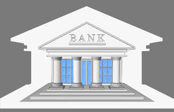 Bank, frontowy widok Obrazy Stock