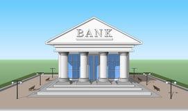 Bank, frontowy widok 02 Zdjęcie Stock
