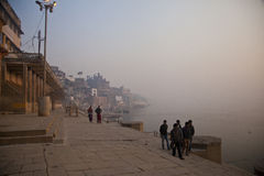 On the Bank of the Ganges Stock Photo