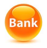 Bank glassy orange round button Royalty Free Stock Photo