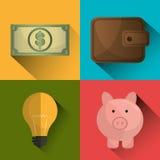 Bank,global economy and money savings Stock Photo