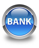 Bank glossy blue round button Royalty Free Stock Photography
