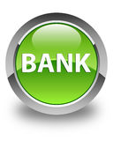 Bank glossy green round button Royalty Free Stock Image