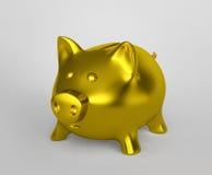 bank golden Świnka ilustracja wektor