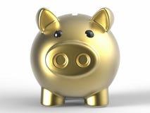 bank golden Świnka ilustracji
