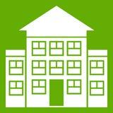 Bank groen de bouwpictogram Stock Fotografie