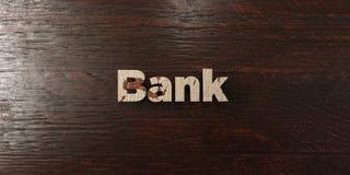 Bank - grungy trärubrik på lönn - 3D framförd fri materielbild för royalty Arkivfoto