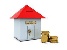bank guld- mynt Arkivfoto