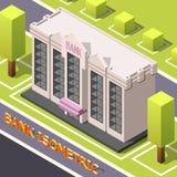 Bank Headquarters Isometric Background stock illustration