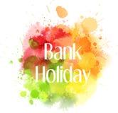 Bank holiday abstract blot Royalty Free Stock Photography