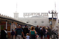 Bank Holiday in Brighton Stock Image