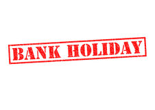 BANK HOLIDAY. Rubber Stamp over a white background Stock Image
