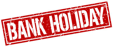 Bank holiday square stamp Royalty Free Stock Image