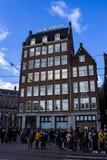 Bank i Amsterdam royaltyfria foton