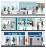 Bank i finanse sztandaru set Obraz Stock