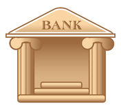 Bank icon Royalty Free Stock Image