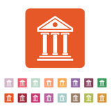 The bank icon. Building facade symbol. Flat Royalty Free Stock Images