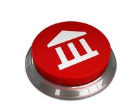 Bank icon. 3d illustration of Bank Icon Royalty Free Stock Photos