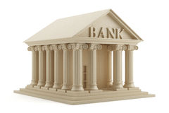 Bank icon. 3d render of bank icon on white background