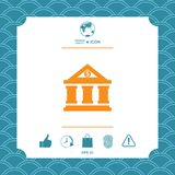 Bank icon with dollar symbol. Element for your design Stock Photo