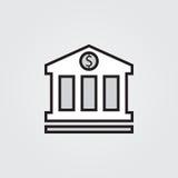 Bank icon. Illustration  on white background for graphic and web design. Bank icon. Illustration  on white background for graphic and web design Royalty Free Stock Photos