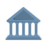 Bank icon. Money and Financial item design. Vector graphic Royalty Free Stock Photography