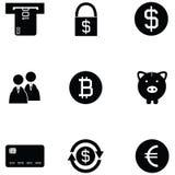 Bank icon set. The bank of icon set Stock Photography
