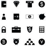 Bank icon set. The bank of icon set Stock Photos