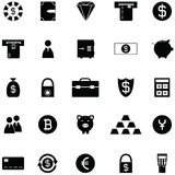 Bank icon set. The bank of icon set Royalty Free Stock Photography
