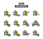 Bank Icon set. Royalty Free Stock Photography
