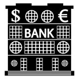 Bank icon on white Royalty Free Stock Image