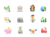 Bank icons. Some bank icons for design Stock Images