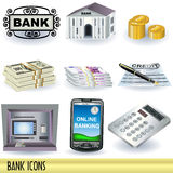 Bank icons Stock Images