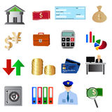 Bank icons Royalty Free Stock Photo