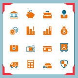 Bank icons | In a frame series stock photography