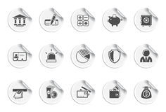 Bank icons icons | Sticky series. Set of 15 stickers. finance and bank Stock Image