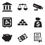 Bank Icons Stock Photo