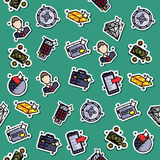 Bank icons pattern. Bank and finance icons pattern for website and mobile site and apps. Vector illustration, EPS 10 Royalty Free Stock Photo