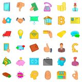 Bank icons set, cartoon style. Bank icons set. Cartoon style of 36 bank vector icons for web isolated on white background Stock Photo